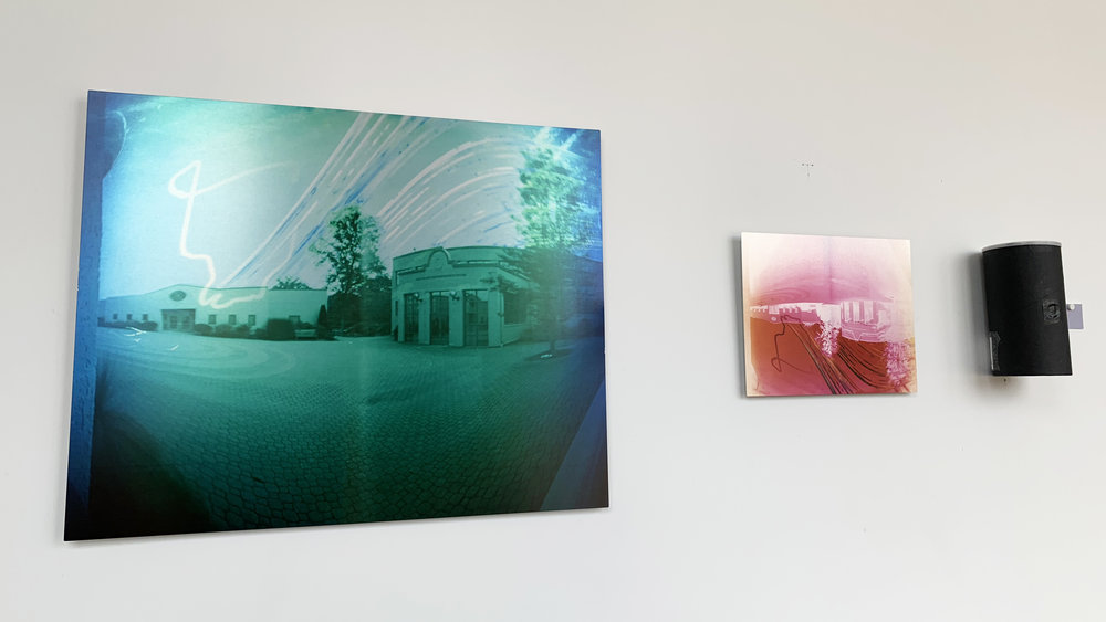 Installation view. Colin Burke:  16 Weeks Under the PInes.  Photo courtesy of the artist.