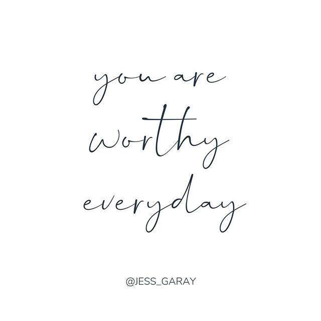 Whether you are feeling like your offer isn't good enough, your price isn't good enough, or your gifts aren't good enough, know that:⠀⠀⠀⠀⠀⠀⠀⠀⠀ ⠀⠀⠀⠀⠀⠀⠀⠀⠀ YOU are WORTHY of AMAZING CLIENTS.⠀⠀⠀⠀⠀⠀⠀⠀⠀ YOU are WORTHY of ABUNDANT INCOME.⠀⠀⠀⠀⠀⠀⠀⠀⠀ YOU are WORTHY of SHARING YOUR GIFTS + TALENTS.⠀⠀⠀⠀⠀⠀⠀⠀⠀ YOU are WORTHY of RISING ABOVE the noise and MAKING AN IMPACT.⠀⠀⠀⠀⠀⠀⠀⠀⠀ YOU are WORTHY of RECHARGING your batteries.⠀⠀⠀⠀⠀⠀⠀⠀⠀ YOU are WORTHY of the TIME and SPACE that you need.⠀⠀⠀⠀⠀⠀⠀⠀⠀ YOU are WORTHY.⠀⠀⠀⠀⠀⠀⠀⠀⠀ EVERY DAY OF THE WEEK.⠀⠀⠀⠀⠀⠀⠀⠀⠀ ⠀⠀⠀⠀⠀⠀⠀⠀⠀ People need your love and your light and all of the magic that you give to the Universe but there is no 'right' way to do it. Trust yourself - you know the answers. 💖⠀⠀⠀⠀⠀⠀⠀⠀⠀ ⠀⠀⠀⠀⠀⠀⠀⠀⠀ Say it below: I AM WORTHY EVERYDAY 💖 ⠀⠀⠀⠀⠀⠀⠀⠀⠀ .⠀⠀⠀⠀⠀⠀⠀⠀⠀ .⠀⠀⠀⠀⠀⠀⠀⠀⠀ .⠀⠀⠀⠀⠀⠀⠀⠀⠀ .⠀⠀⠀⠀⠀⠀⠀⠀⠀ .⠀⠀⠀⠀⠀⠀⠀⠀⠀ #shineyourtruth #jessgaraysoulcoach #soulcoach #thatsdarling #businesscoaching #womeninbuisness #womenempoweringwomen #communityovercompetition⠀⠀⠀⠀⠀⠀⠀⠀⠀ #youarepowerful #bebrave #bloomyellow #beyourownlight #flashesofdelight #risingtidesociety #calledtobecreative #thehappynow #keepmoving#femaleboss #slayallday #bizbabe #soulpreneur #womeninspiringwomen #abundance #personaldevelopment #spiritjunkie