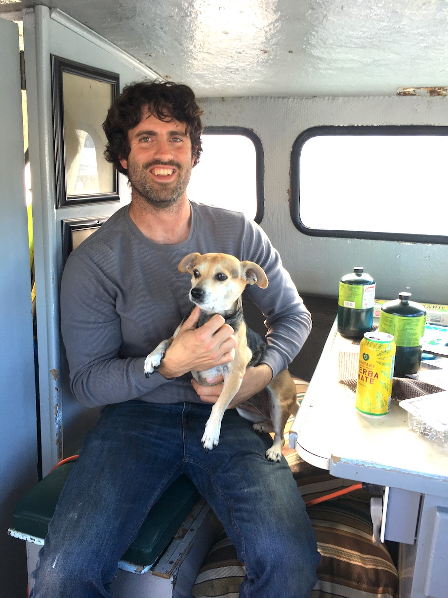 Porter McHenry and his dog, Penny