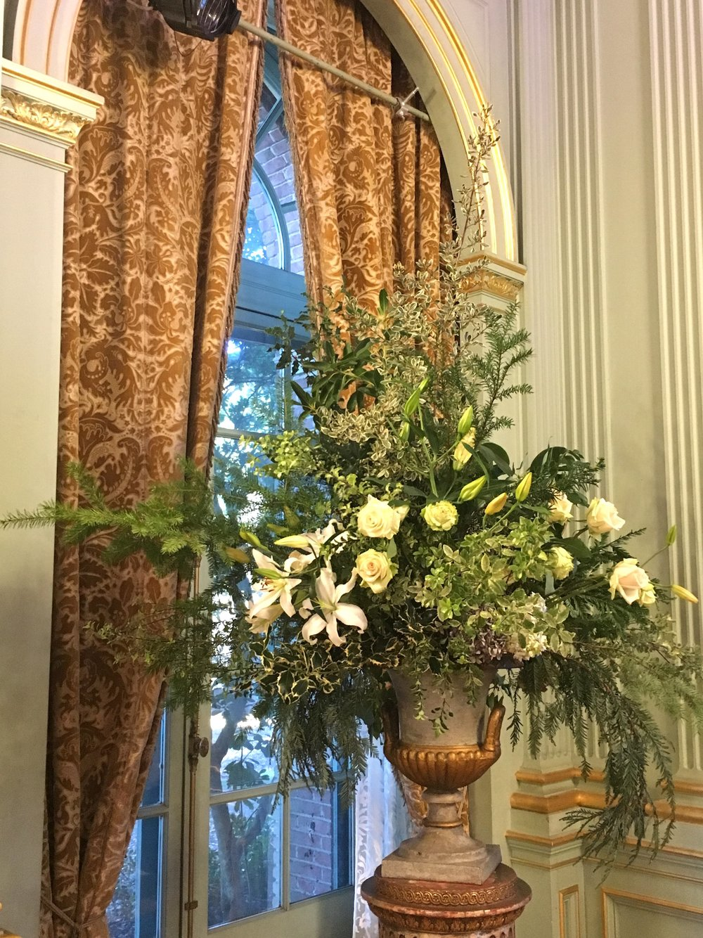 The flower arrangements throughout the house are stunning.