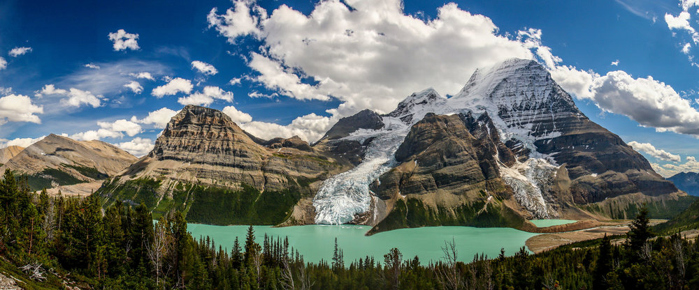 Mt. Robson in Canada is one of his favorite places to go backpacking.