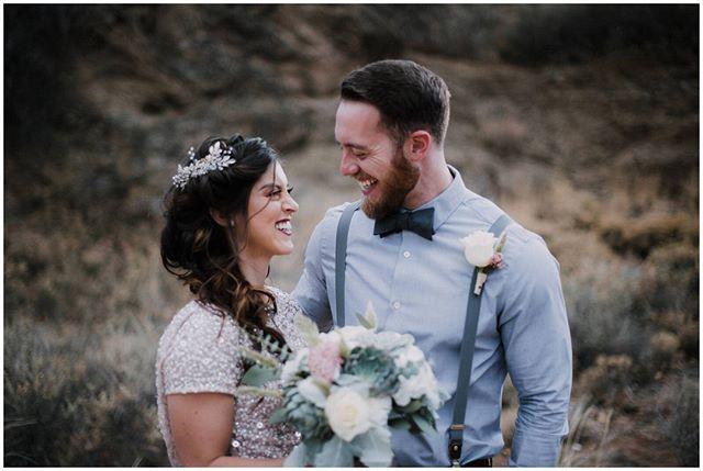 Look at those smiles! Even through a photo you can feel the beaming love ❤️⠀⠀⠀⠀⠀⠀⠀⠀⠀ .⠀⠀⠀⠀⠀⠀⠀⠀⠀ The amazing team:⠀⠀⠀⠀⠀⠀⠀⠀⠀ @lavelmariephotography @etniefaith @jewelhairdesign @haircomesthebride @rio_flowersandthings @inspire2grindmedia