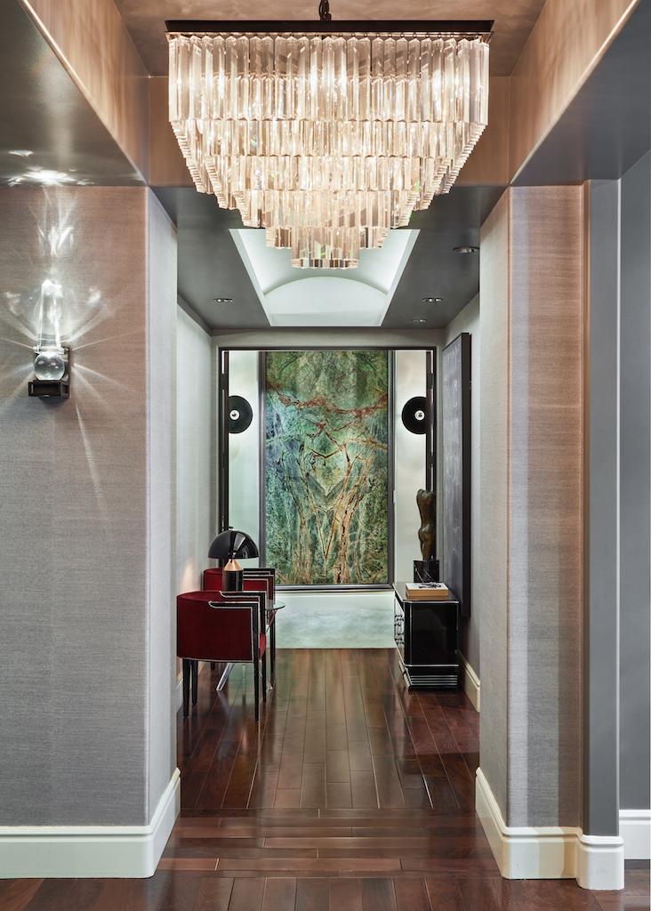 Chandelier Hallway