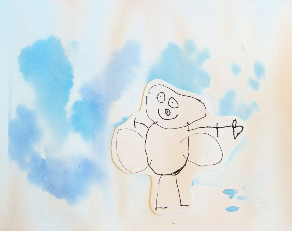 Preschool~ Shape Drawing  Watercolour, Pen & Ink