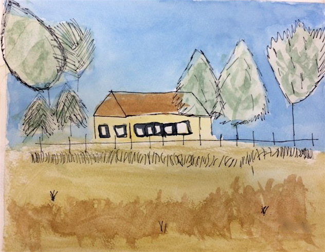 "Grade 4~ ""Special Places""  Watercolour, Pen & Ink"