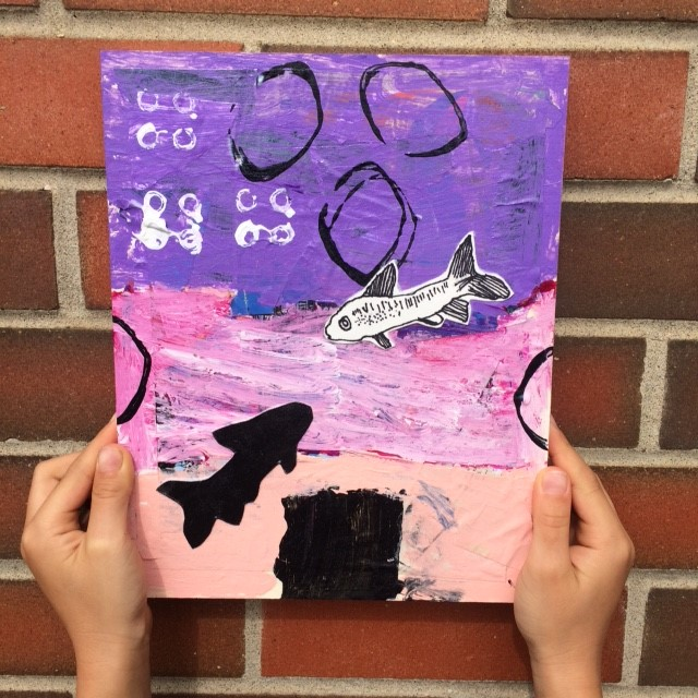 Grade 2 - Small Crawling & Flying Animals  Mixed Media