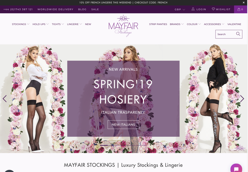 Mayfair - A top three UK hosiery retailerwww.mayfairstockings.com