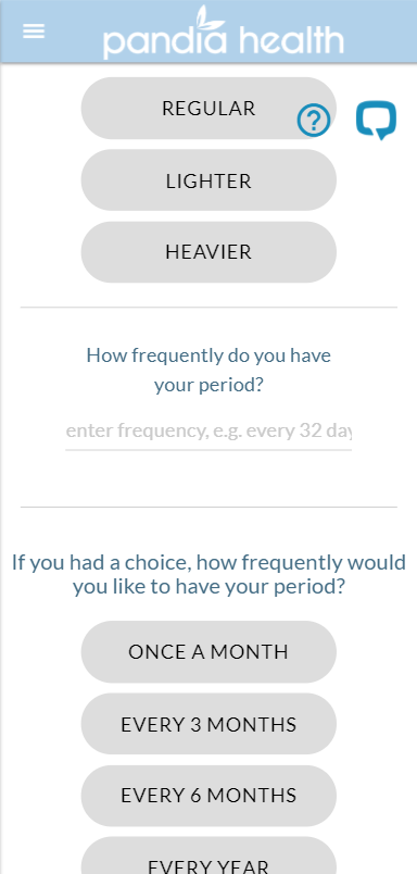 Current prototype for the period frequency question