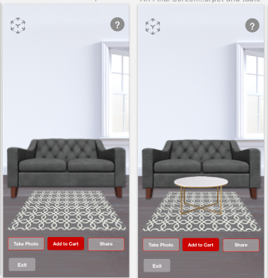 Iteration A: View multiple pieces in AR room.