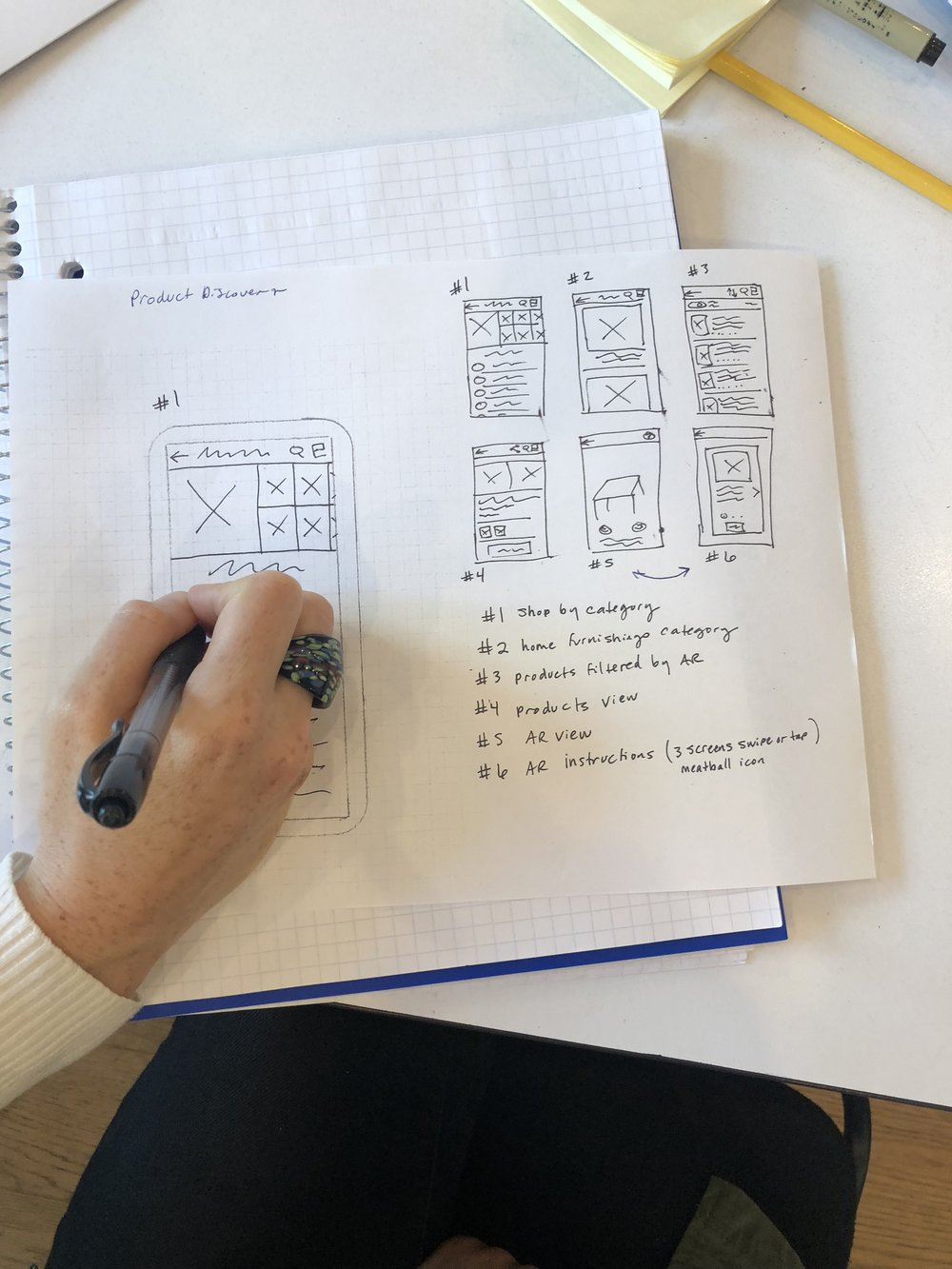 Low Fidelity Wireframes Sketches