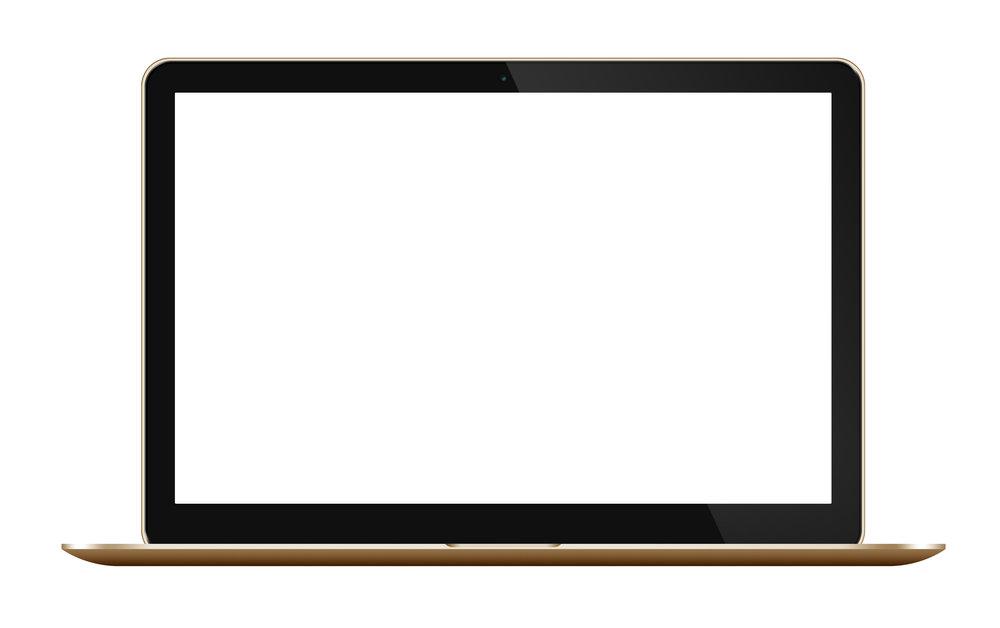 Gold laptop