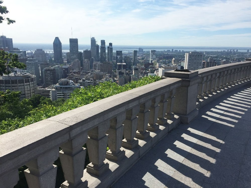View of downtown Montréal from Parc du Mont Royal. Photo Credit: JD Brown.