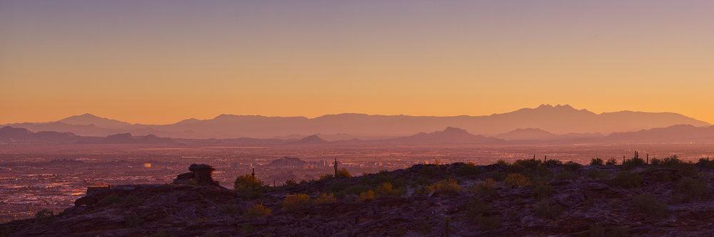 Phoenix, Arizona framed by mountains Photo Credit: Brian Truono