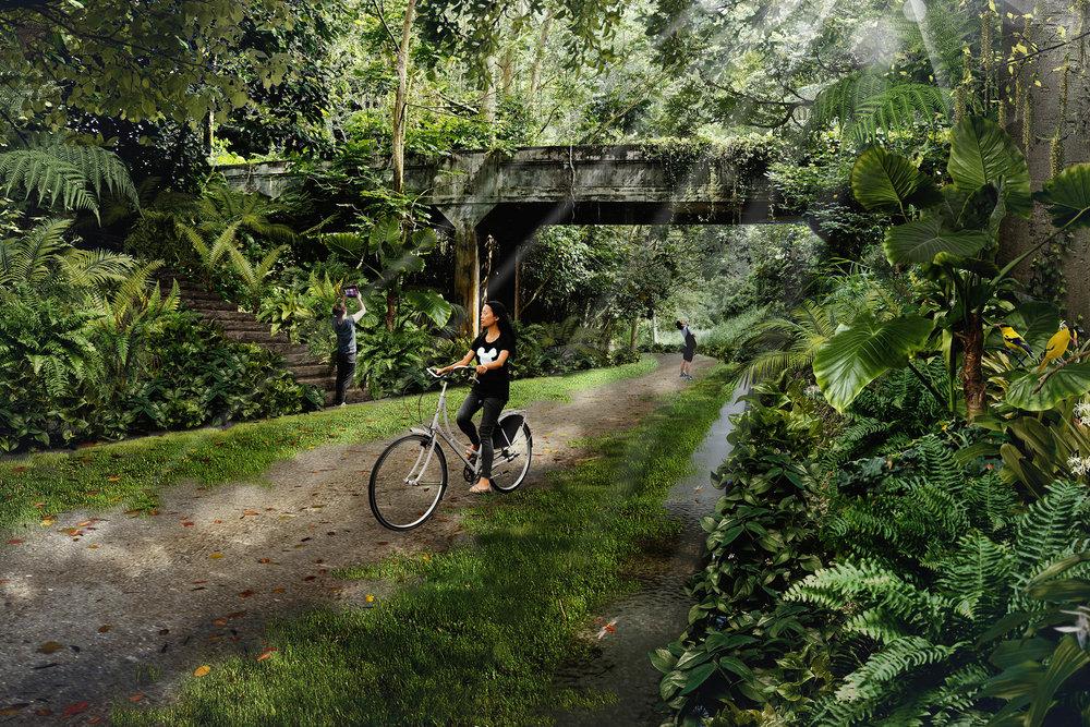 Artist impression - Forest Valley. Image Credit: URA