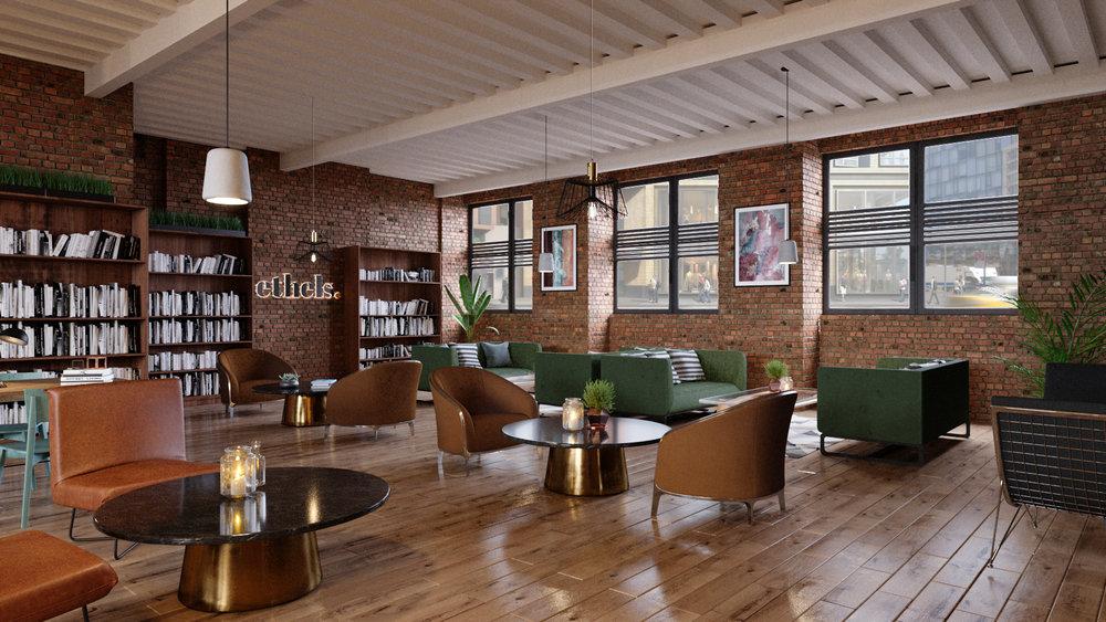 A rendering of Ethels Club — Brooklyn