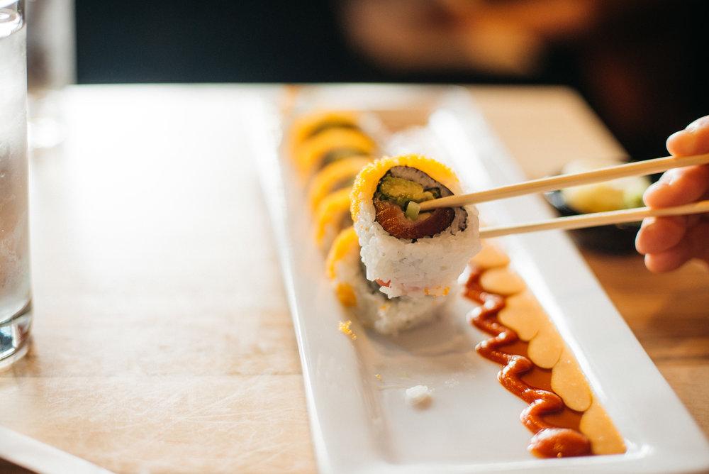 Kai Sushi makes some delicious rolls.