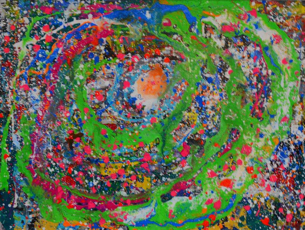 Bunte Galaxie I Acryl auf Leinwand