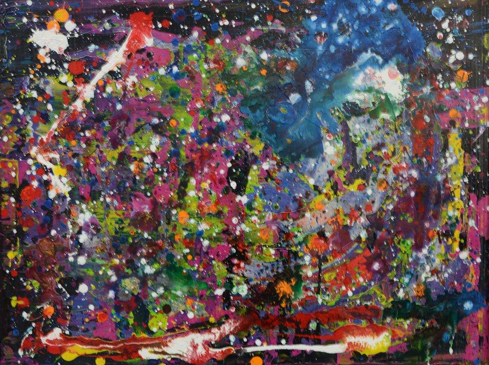 Bunte Galaxie III Acryl auf Leinwand