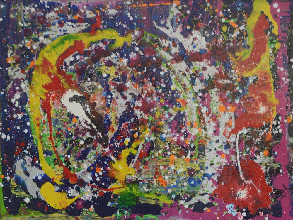 Bunte Galaxie II Acryl auf Leinwand