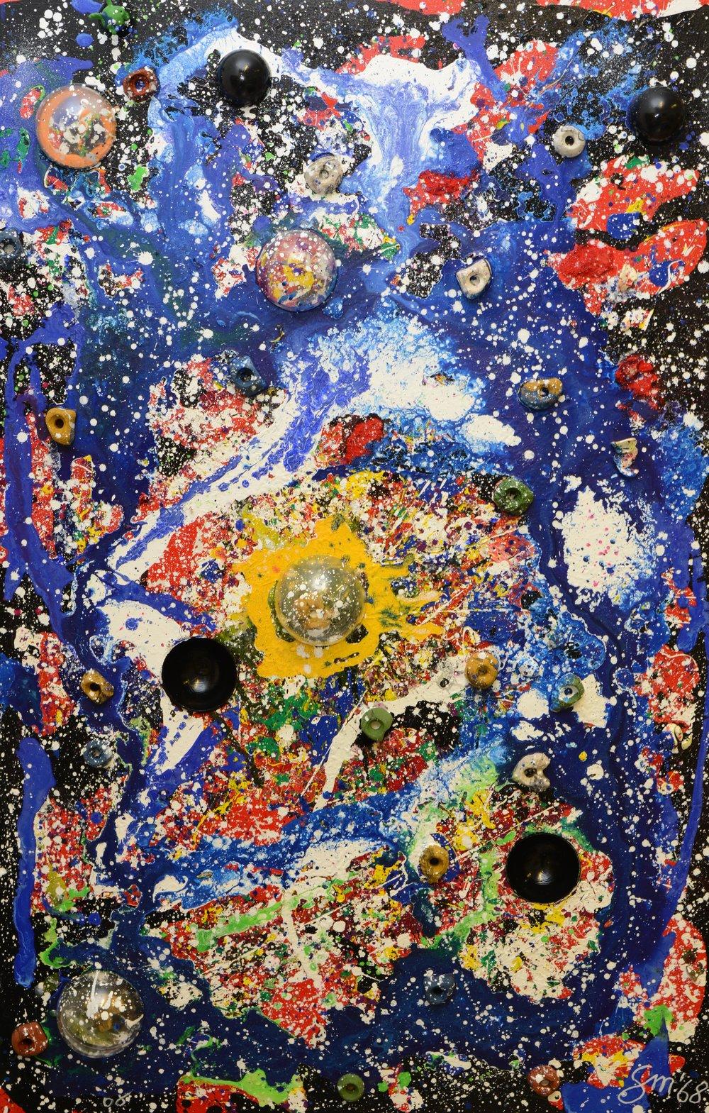 Galaktische Kletterwand Acryl auf Leinwand