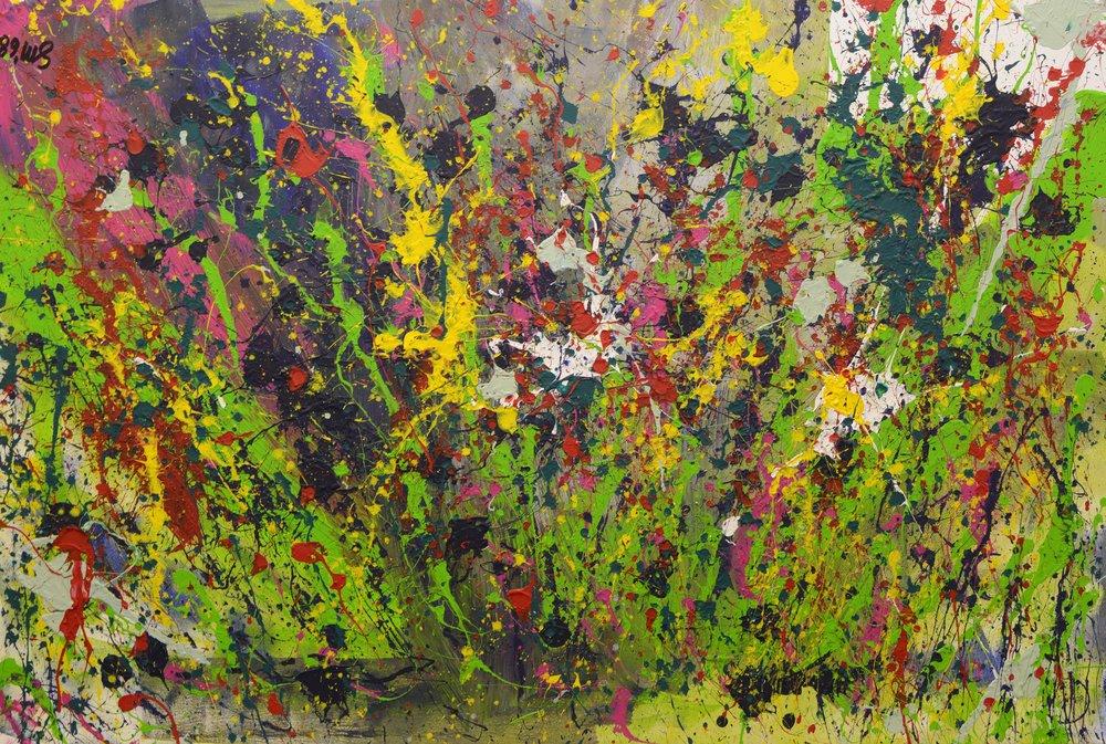 Galaxy of Jackson Pollock I Acryl auf Leinwand
