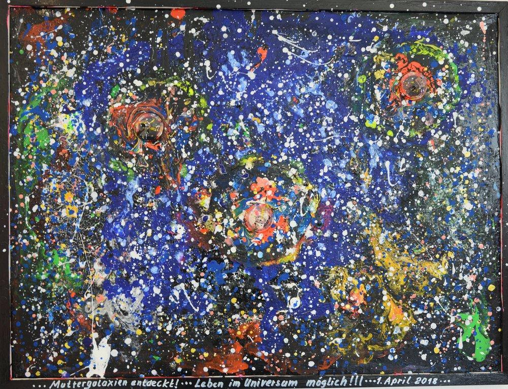 Muttergalaxien Acryl auf Leinwand