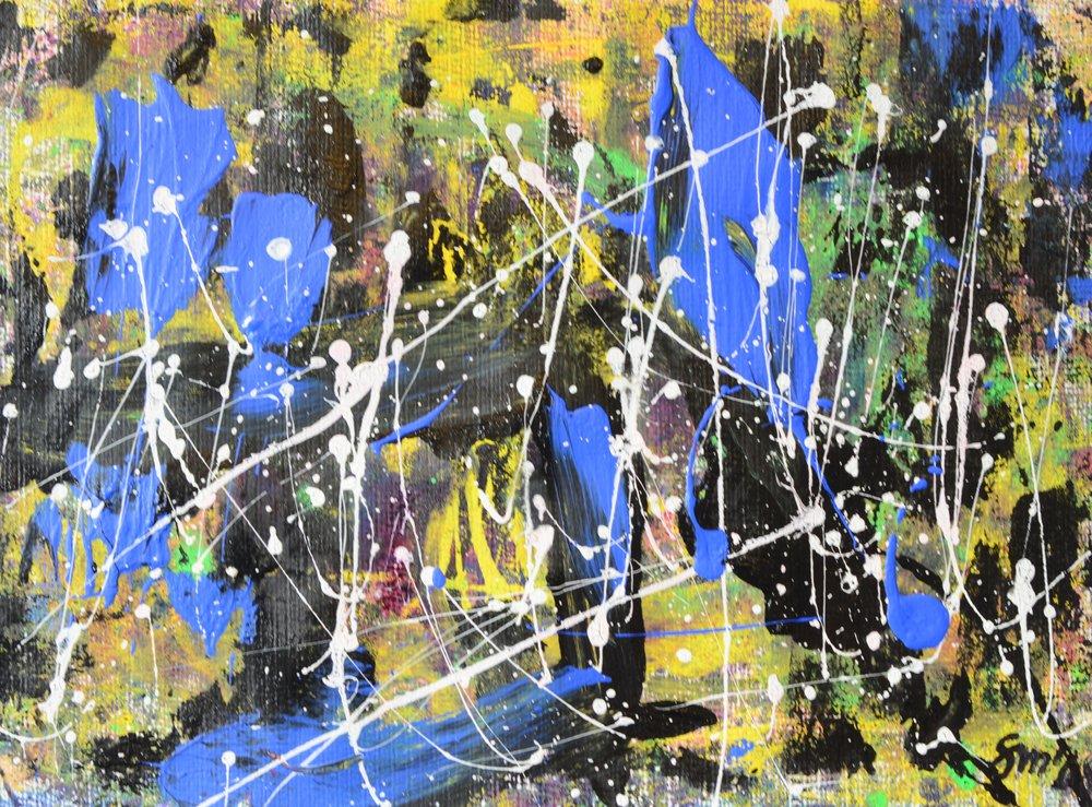 Sternschnuppen II Acryl auf Leinwand
