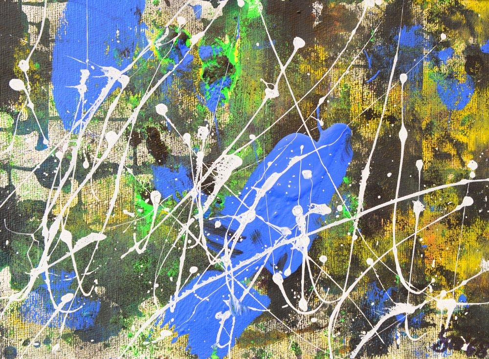 Sternschnuppen I Acryl auf Leinwand