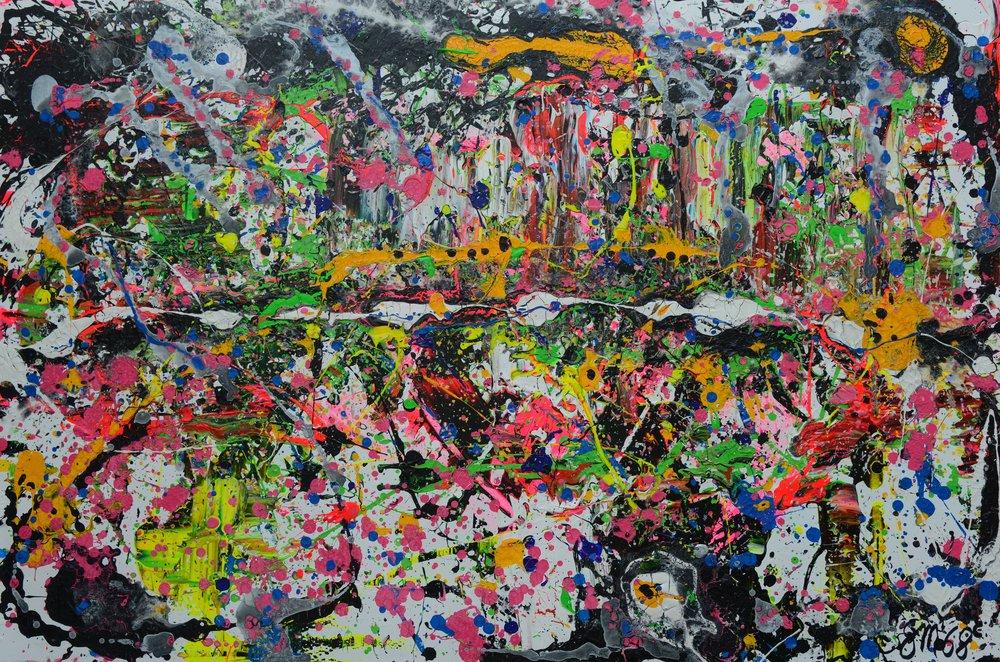 Composition I Pink Composition I Acryl auf Leinwand