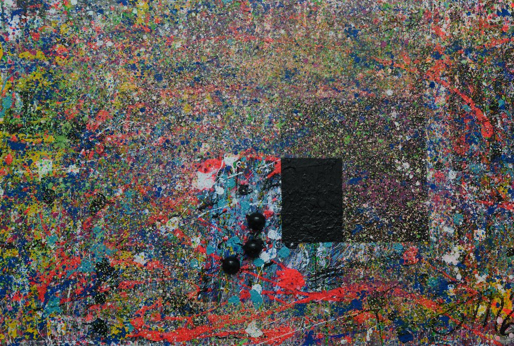 Composition II Pink composition II Acryl auf Leinwand
