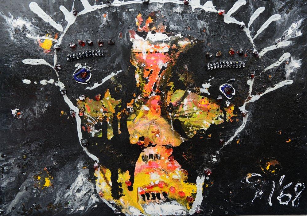 Maske I Acryl auf Leinwand