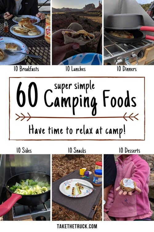 Don T Ever Stress About Camping Meals Again 60 Easy Camping Foods