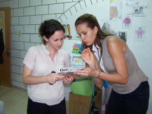 Petra with Center Director