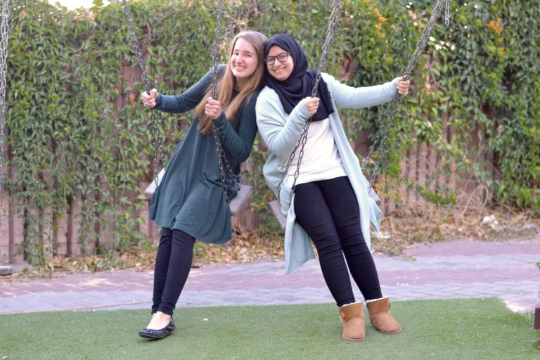 Katherine and staff member Rawan have enjoyed spending time together this session.