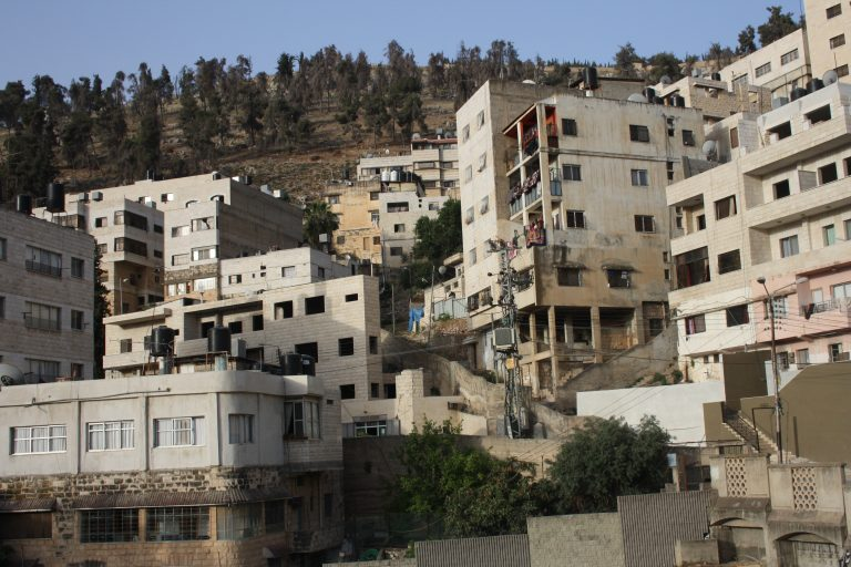 Haya's favorite view from her room in Nablus.