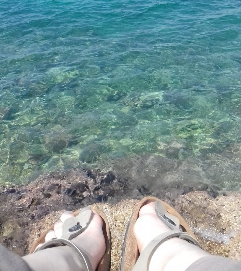 Chilling by the sea