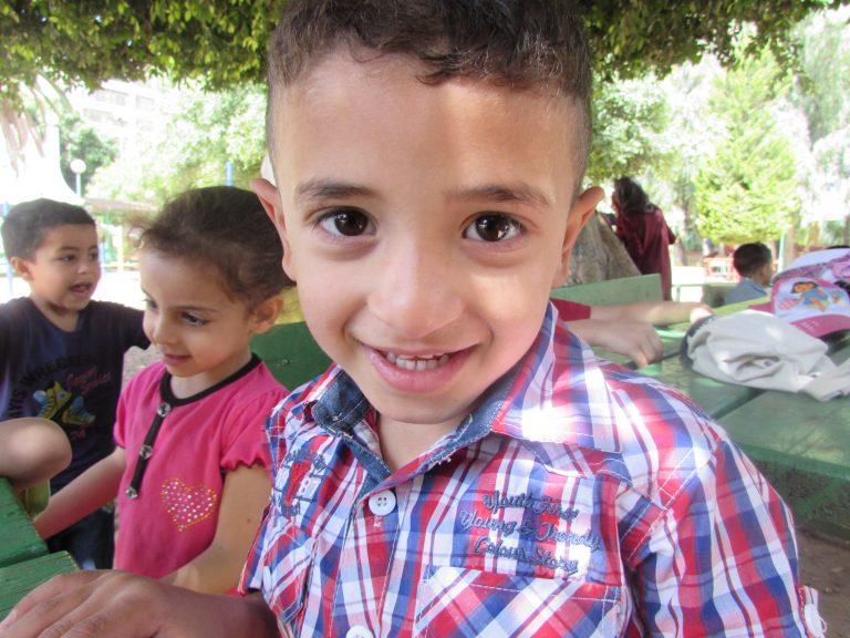 Playing at the park with Mo'ayyad, Elya and Ahmad.