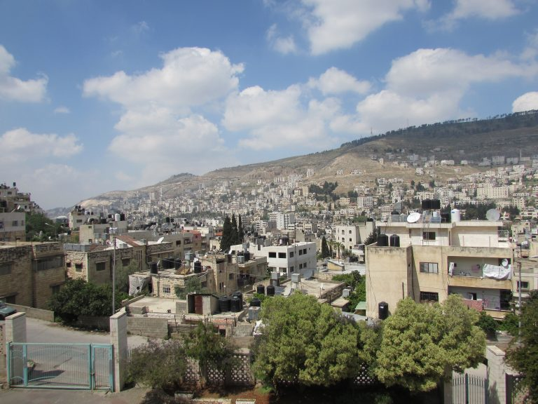 The view of Nablus from the TYO Center on a beautiful day.