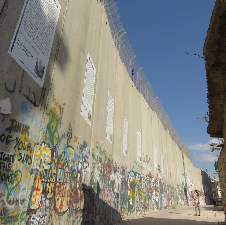 EFL Fellow Leah visits the separation barrier in Bethlehem.