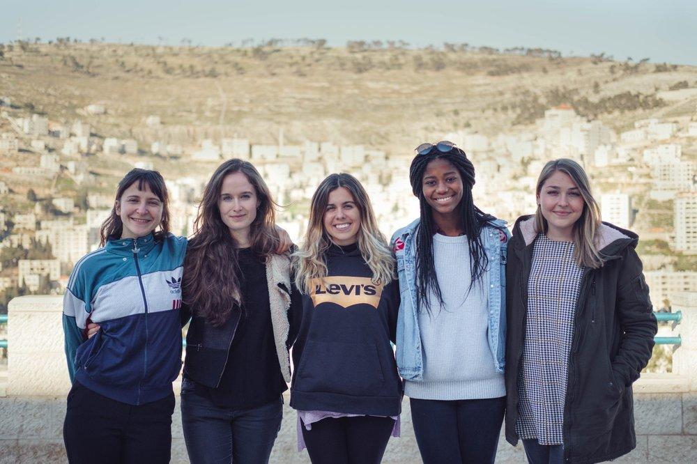 TYO's new Intern Team: Natali, Inge, Claudia, Whitney, and Elisa.