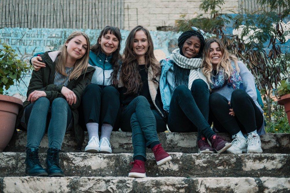 Elisa, Natali, Inge, Whitney, and Claudia.