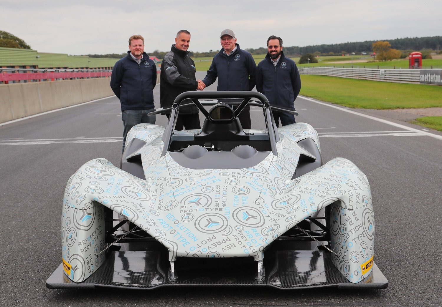 (L-R) Roger Green - Revolution Head of Marketing, James Bailey - Sports Prototype Cup with Phil Abbott and Romain Rousseaux - Directors, Revolution.