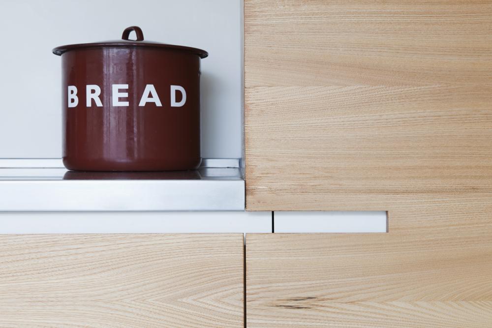 bespoke kitchen joiner details and bread basket