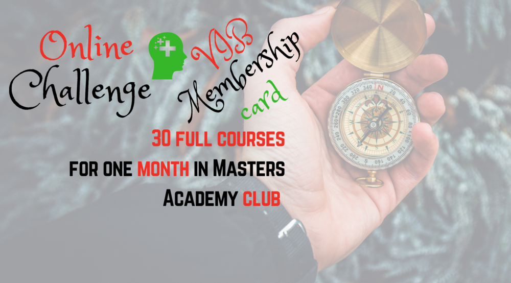 Masters Academy club - 30 full courses first month free