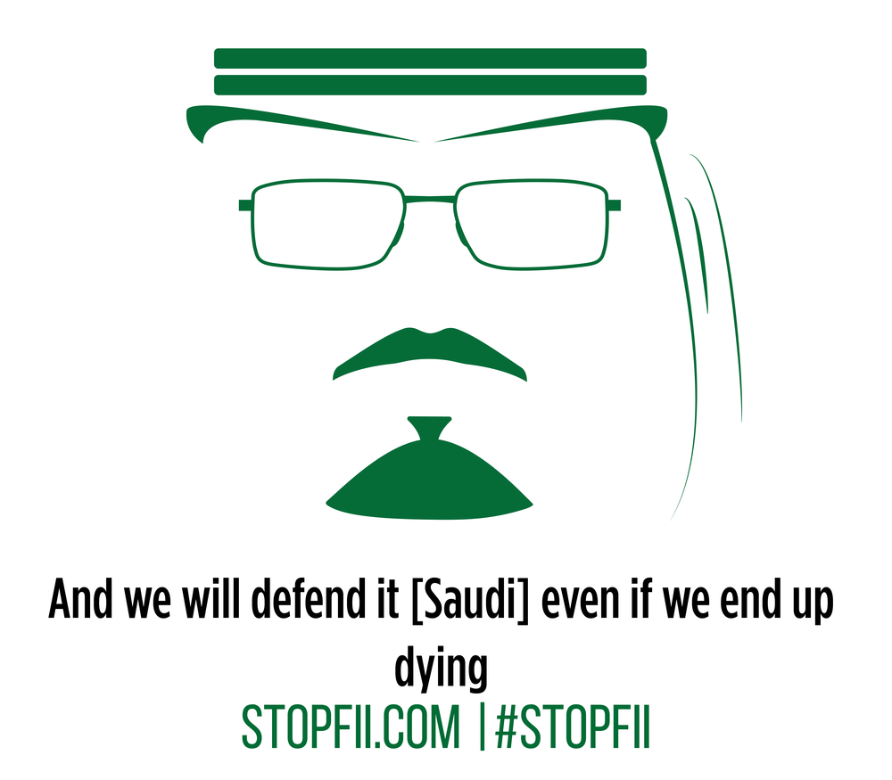And we will defend it [Saudi] even if we end up dying