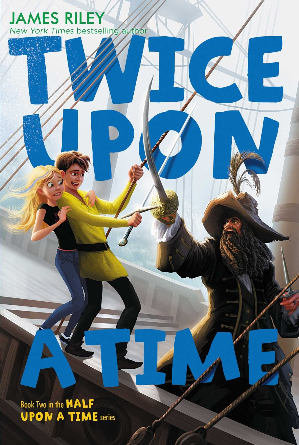 TWICE UPON A TIME (BOOK 2) - Jack and May are back for another adventure in the world of fairy tales with a twist. Now that they know about May's grandmother's real intentions, they're on the hunt to learn May's true identity. The search for answers leads Jack and May to the world of the Sea King, where they land right in the center of a battle between mermaids and the Pirate Bluebeard. The laughter and action are nonstop in this book from author James Riley—the second in a trilogy!BUY: AMAZON | BARNES & NOBLE | INDEPENDENT STORES