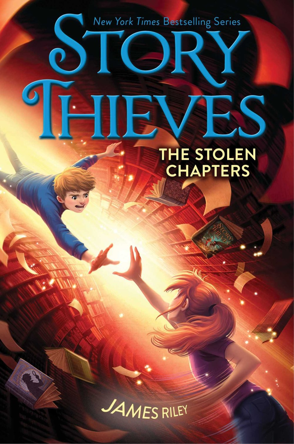 "STORY THIEVES: THE STOLEN CHAPTERS (BOOK 2) - Owen, Kiel, and Bethany confront secrets, stolen memories, and some very familiar faces in the second book in the New York Times bestselling series, Story Thieves—which was called a ""fast-paced, action-packed tale"" by School Library Journal—from the author of the Half Upon a Time trilogy.Owen Conners's whole life changed the day he found out his classmate Bethany was half-fictional, and could take him into any book in the library. Which story would they jump into next? Another fantasy, like the Kiel Gnomenfoot, Magic Thief books? Maybe something with superheroes? Owen's up for anything except mysteries—those just have too many hidden clues, twists that make no sense, and an ending you never see coming.Then Owen wakes up in a real-life mystery with a memory that's been erased and too many questions. How did Kiel Gnomenfoot lose all of his magic? Where is Bethany? And who's the annoying guy wearing the question mark mask and Sherlock Holmes hat, taunting Owen and Kiel that Bethany is in grave danger?Bethany is trapped in a hidden room that's slowly filling with water, and she can't escape until her friends find her. But is she imprisoned by more than just chains and a locked door? What's she hiding from Owen and Kiel?Maybe some mysteries just shouldn't be solved…BUY: AMAZON 