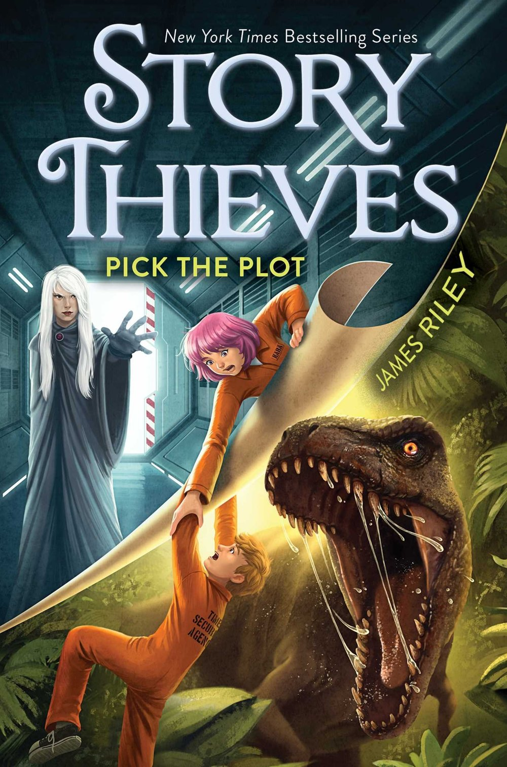 STORY THIEVES: PICK THE PLOT (BOOK 4) - Being able to jump into books used to seem like the greatest thing in the world to Owen Conners. But now Owen's trapped in a time travel book where readers—that would be you—decide how the story goes.As if that weren't enough, Owen's also stuck in a prison for time criminals in a prehistoric era. He's surrounded by bizarre fellow prisoners, including Kara Dox. How does Kara recognize Owen if they've never met before? She seems to think they're old friends, but that can't be possible. Still, Kara might just be the only chance Owen has to escape. And he has to find a way out to save his friend Bethany, who's still in grave danger. Because unless Owen can stop him, Nobody is going to split Bethany into two, separating the fictional and nonfictional worlds forever.Will Owen be able to convince you, the reader, to help him find his way back to Bethany? Or will you feed him to dinosaurs just to teach him a lesson? It's all up to you when you Pick the Plot.BUY: AMAZON | BARNES & NOBLE | INDEPENDENT STORES