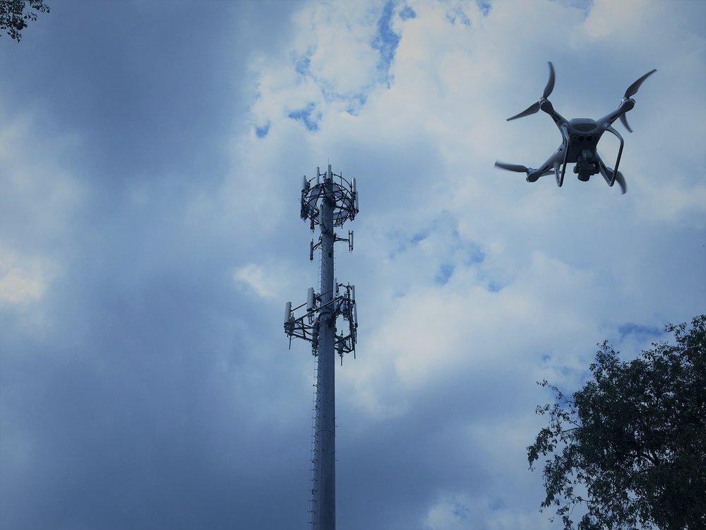 Tower Inspection using a DJI Phantom 4 Pro