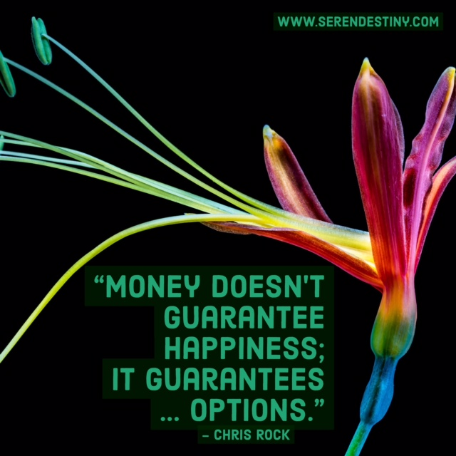 money doesn't guarantee happiness